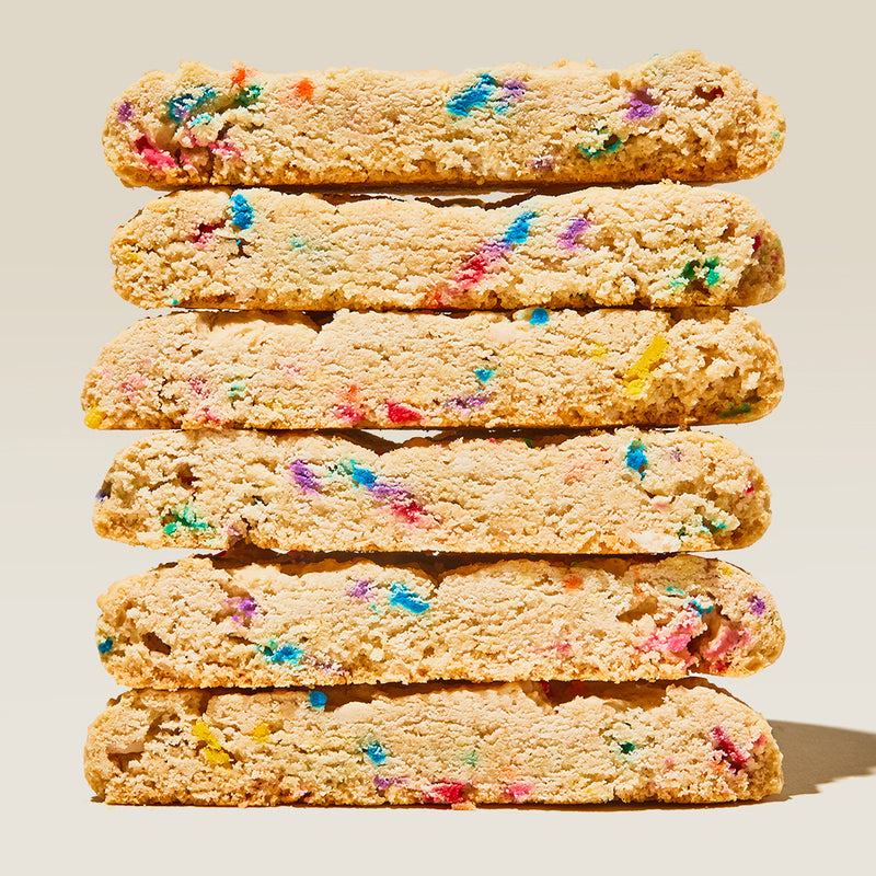 Confetti Cookie Stack Sliced in Half