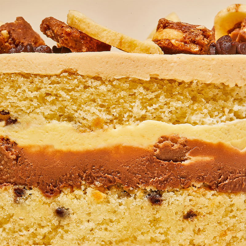 PB&B Cake Layers Close-up