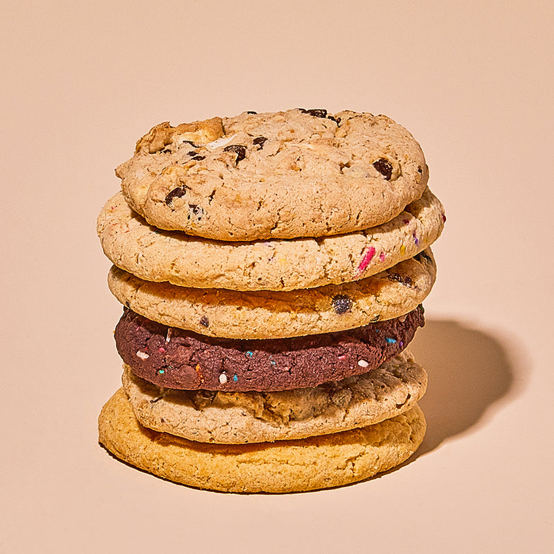 Assorted Cookies stacked