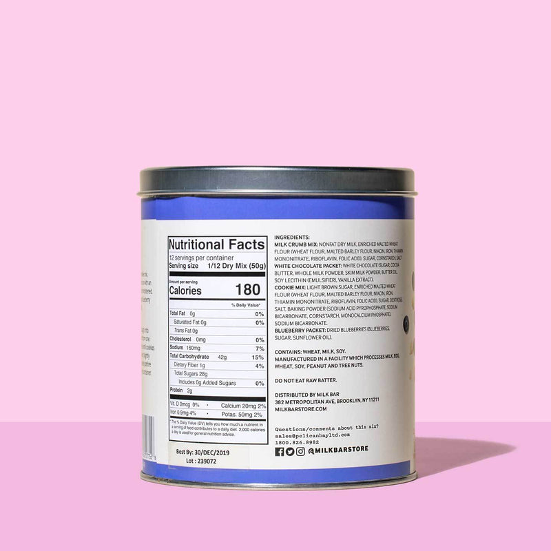 Blueberry & Cream™ Baking Mix side