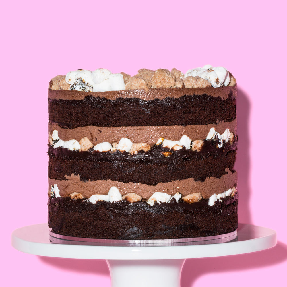 Milk Bar chocolate malt cake 6 inch - side view