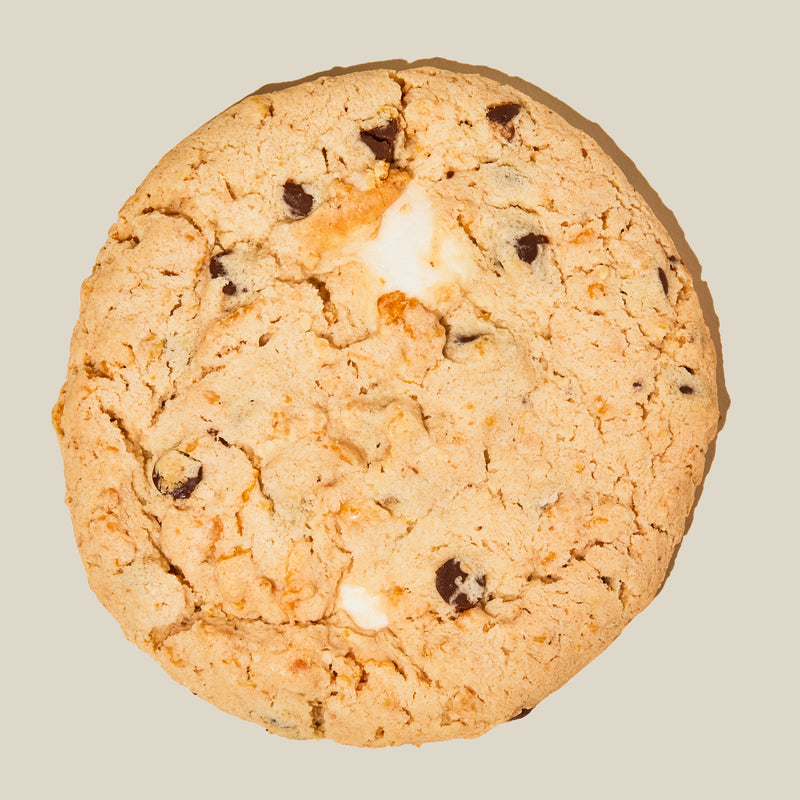 Cornflake Chocolate Chip Marshmallow Cookie top view
