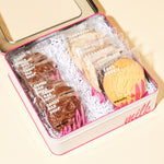 6  Candy Bar Snaps & 6 Assorted Cookies in dozen tin