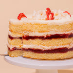 Strawberry Shortcake Cake 6-inch Slice