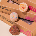 Strawberry Shortcake Truffle bite, B'day Truffle and Chocolate B'day Truffle singles