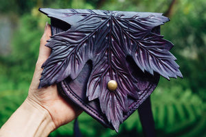 Purple Maple Leaf Pouch