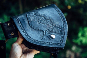 Perching Raven ~ one pocket belt