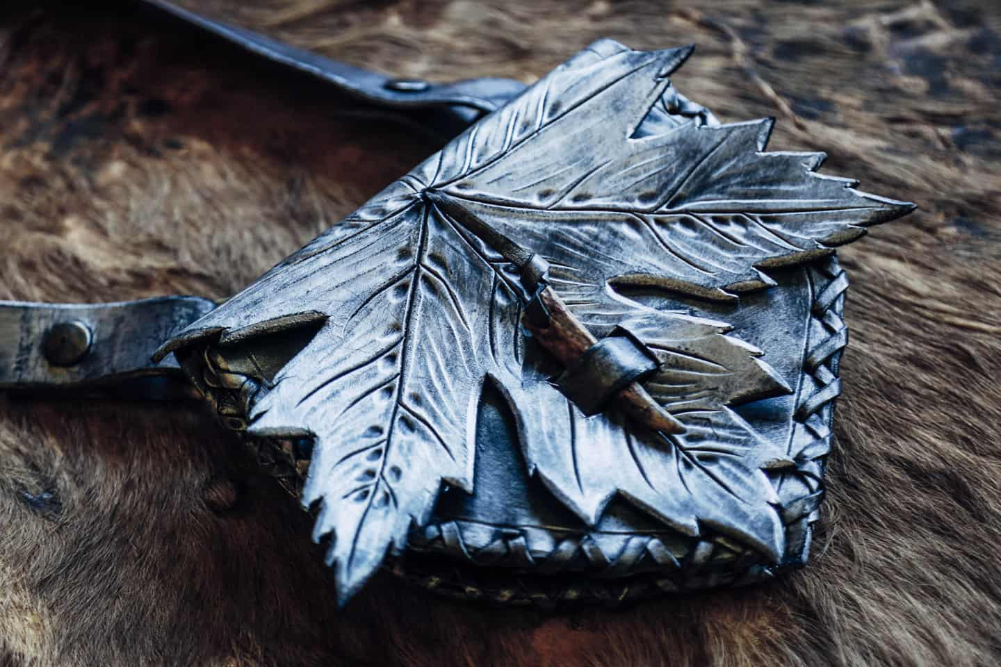 Silver Maple Leaf Bag
