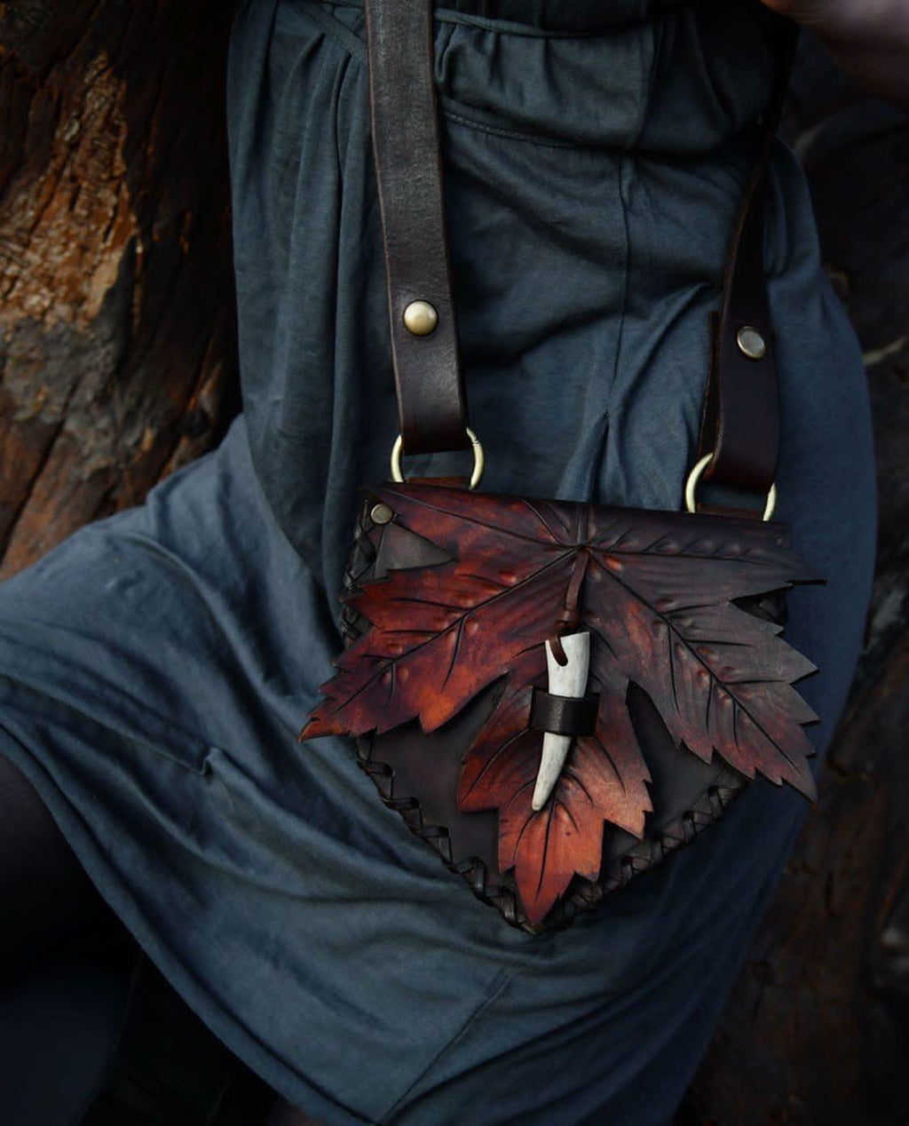 Shades of Fall ~ Maple Leaf bag