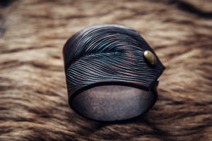 Peacock Feather Cuff