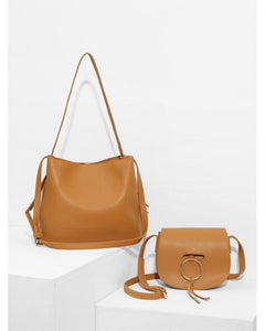 Lainey Satchel & Crossbody Bag in Camel