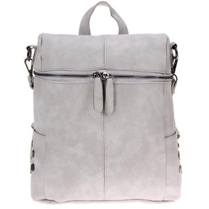 Cecilia Suede Leather Back Pack and Crossover Bag