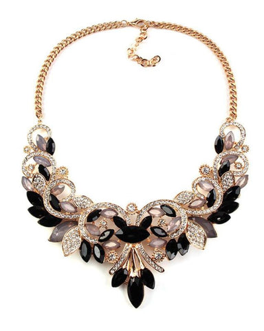 Lucy Crystal Rhinestone Choker Necklace