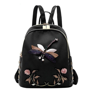 Kate Embroidered Applique Crystal Rhinestone Back Pack