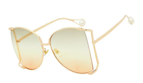 Karla Oversized half frame Sunglasses with a Gradient Lens