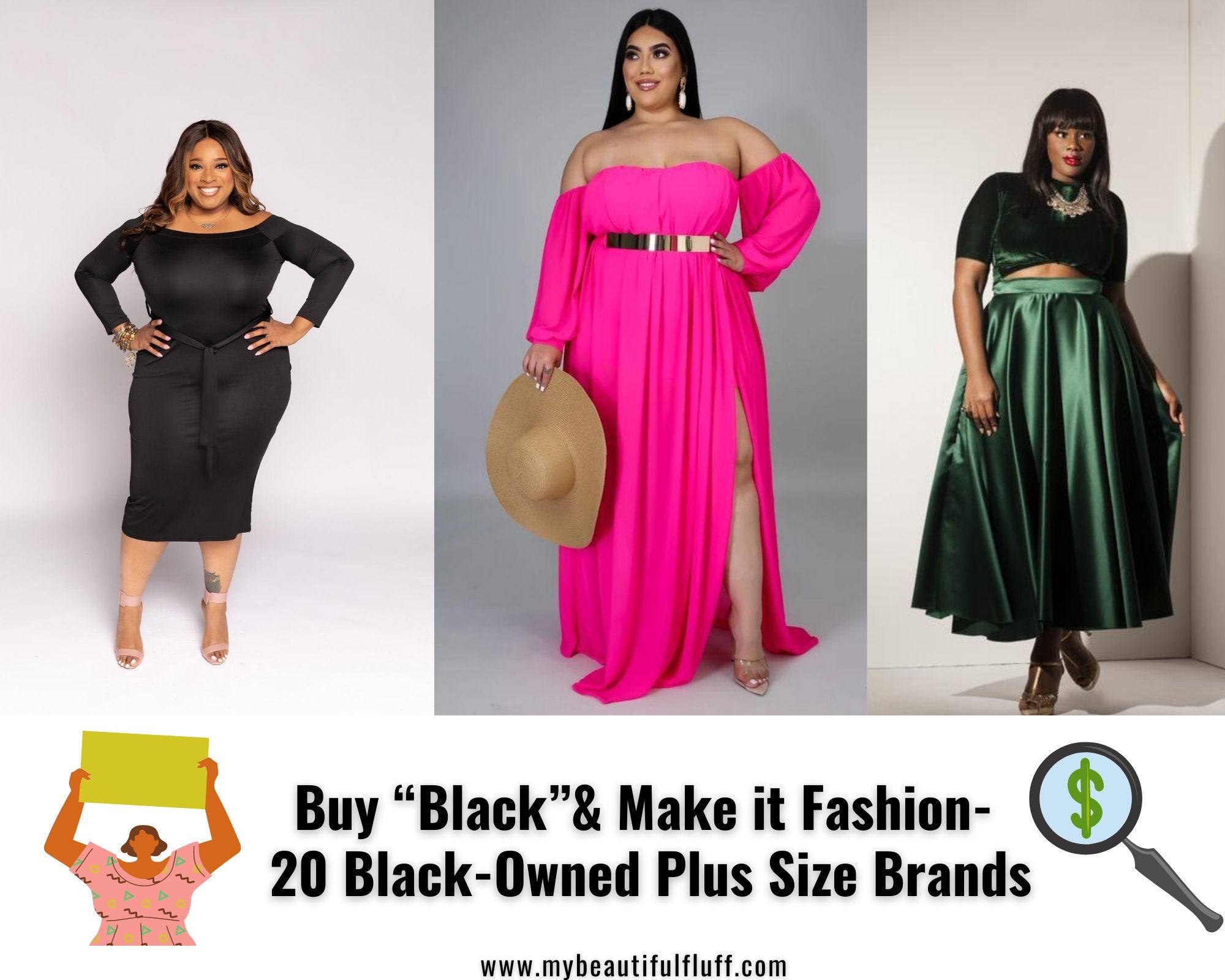 "Buy ""Black"" & Make it Fashion- 20 Black-Owned Plus Size Brands"