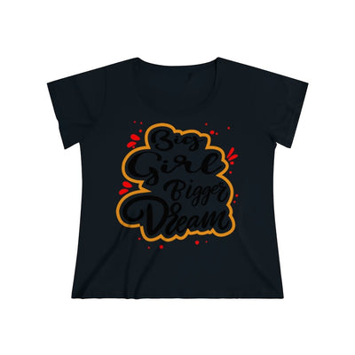 Big Girl Bigger Dream Women's Curvy Tee T-Shirt Printify 1 (14-16) Black