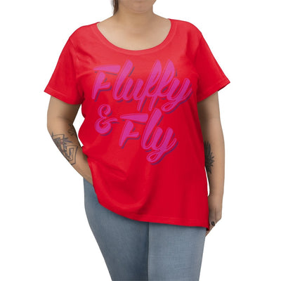 Fluffy and Fly Women's Curvy Tee T-Shirt Printify