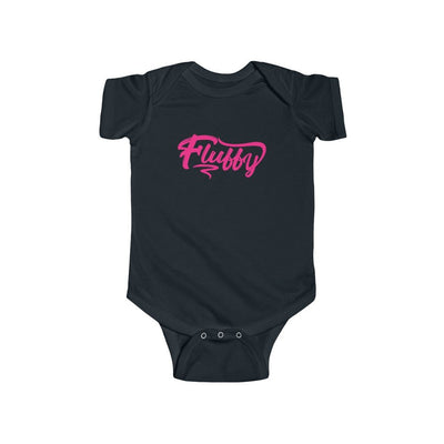 Fluffy Infant Fine Jersey Bodysuit Short Sleeve Kids clothes Printify Black 12M