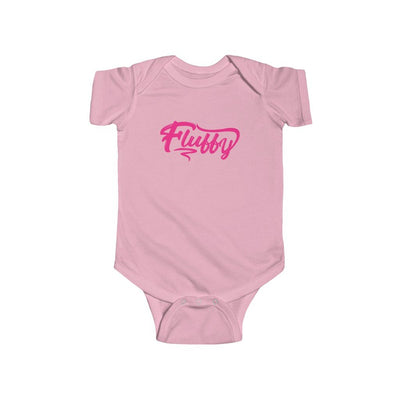 Fluffy Infant Fine Jersey Bodysuit Short Sleeve Kids clothes Printify Pink NB