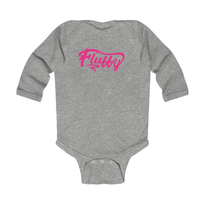Infant Long Sleeve Bodysuit Kids clothes Printify Heather 6M