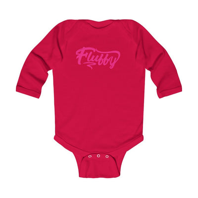 Infant Long Sleeve Bodysuit Kids clothes Printify Red 6M