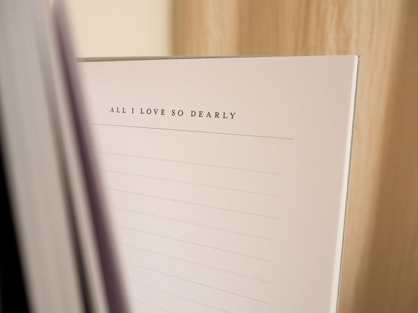 All I Love So Dearly Journal - The Grace Files