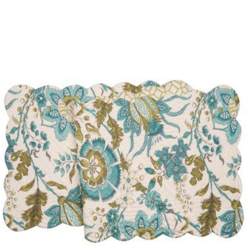 Adrienne Quilted Cotton Table Runner