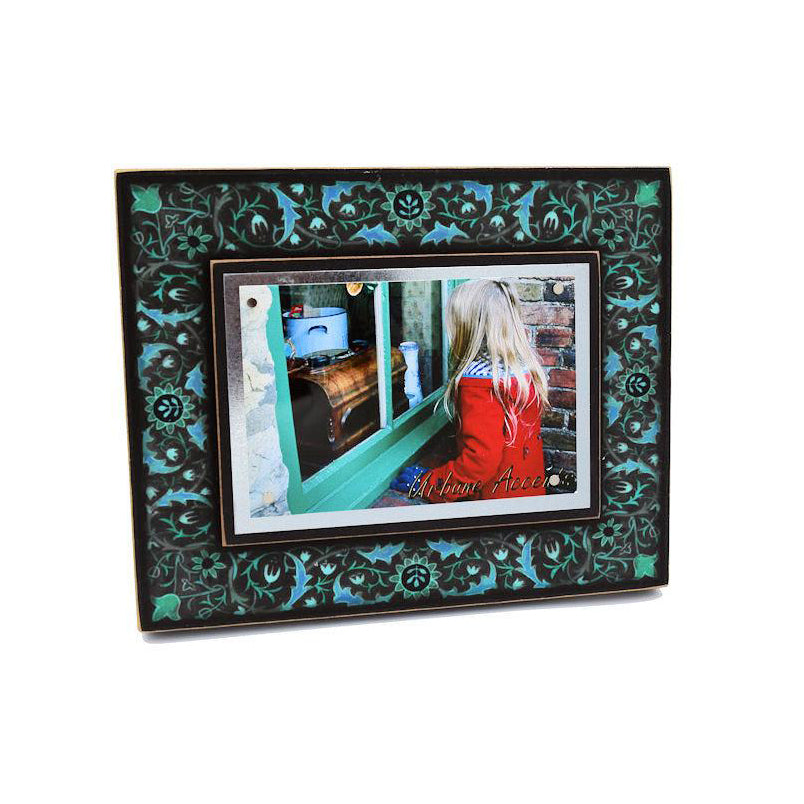 Macone Clay Blue Floral Frame