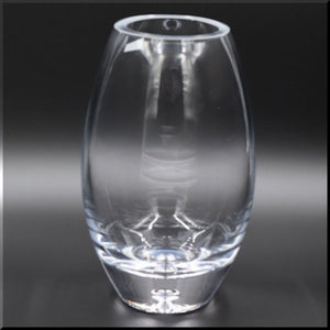 Clear Glass Vase Round