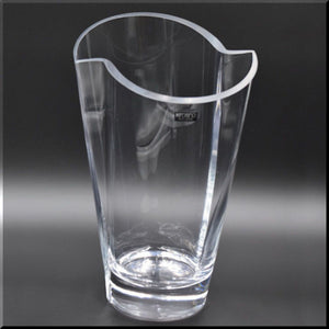 Clear Glass Curved Top