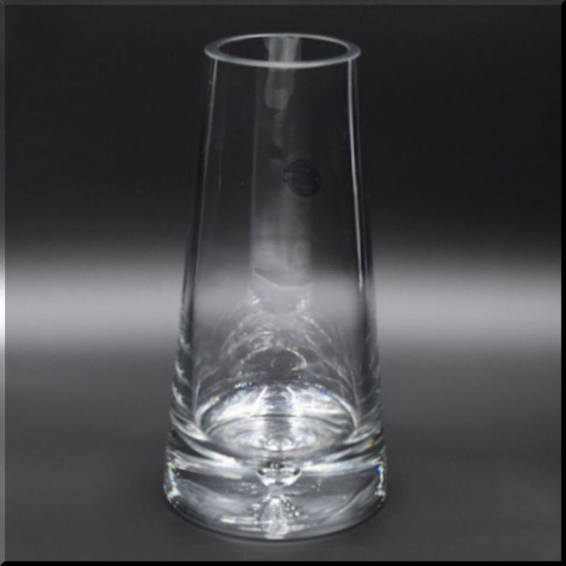 Clear Glass Vase Tapered