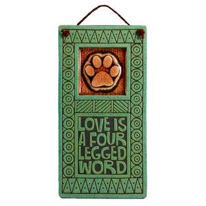 Macone Clay Four Legged Word Hanging Tile