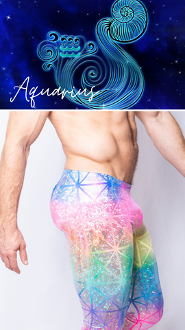 Rainbow Geometric Spiritual Mens Rainbow Leggings GLBTQ