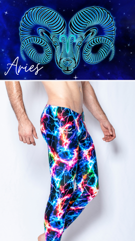 Aries Mens Leggings Lightning
