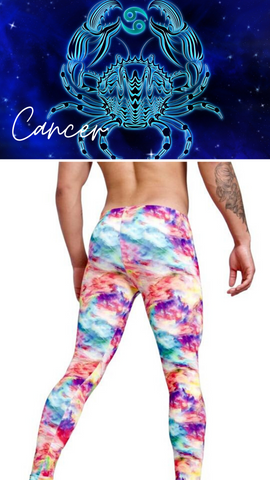 Cancer Mens Leggings Zodiac Cloud 9