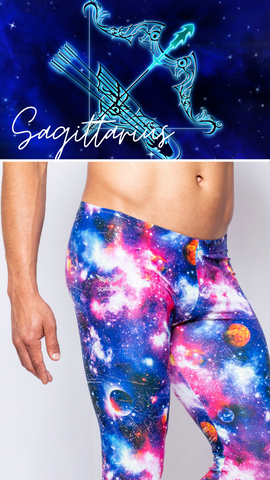 Sagittarius Men Zodiac Apparel Mens Leggings Galaxy