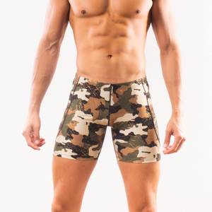 Glitter Camo - Pocketed Festival Shorts - SokoWear