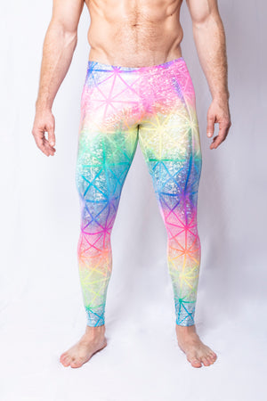 Rainbow Geometric - Men's Leggings