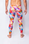 White Paint Splatter - Men's Leggings - SokoWear