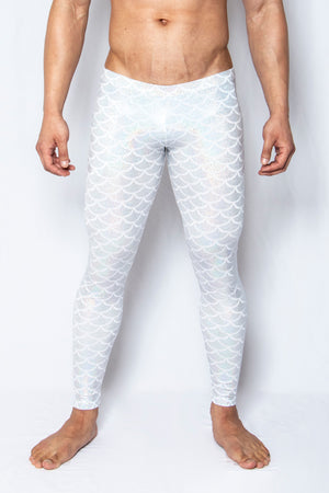 White Scales - Men's Leggings