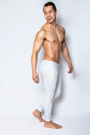 White Scales - Men's Leggings - SokoWear