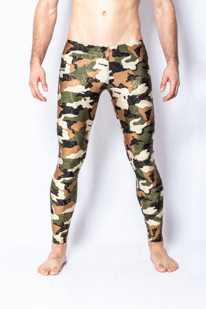 Glitter Camo - Men's Leggings - SokoWear