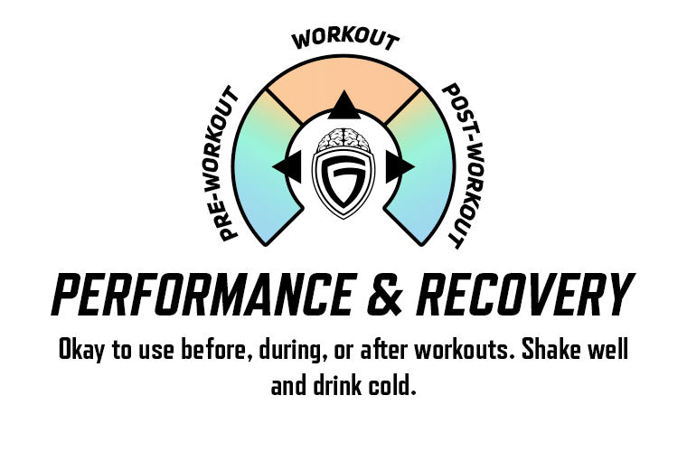 Okay to use before, during, or after workouts. Shake well and drink cold.