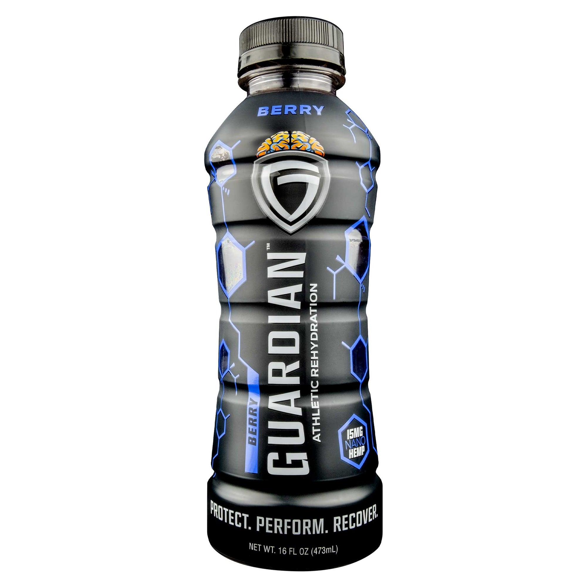 Six pack of Guardian Rehydration Berry Sports Hemp Drink