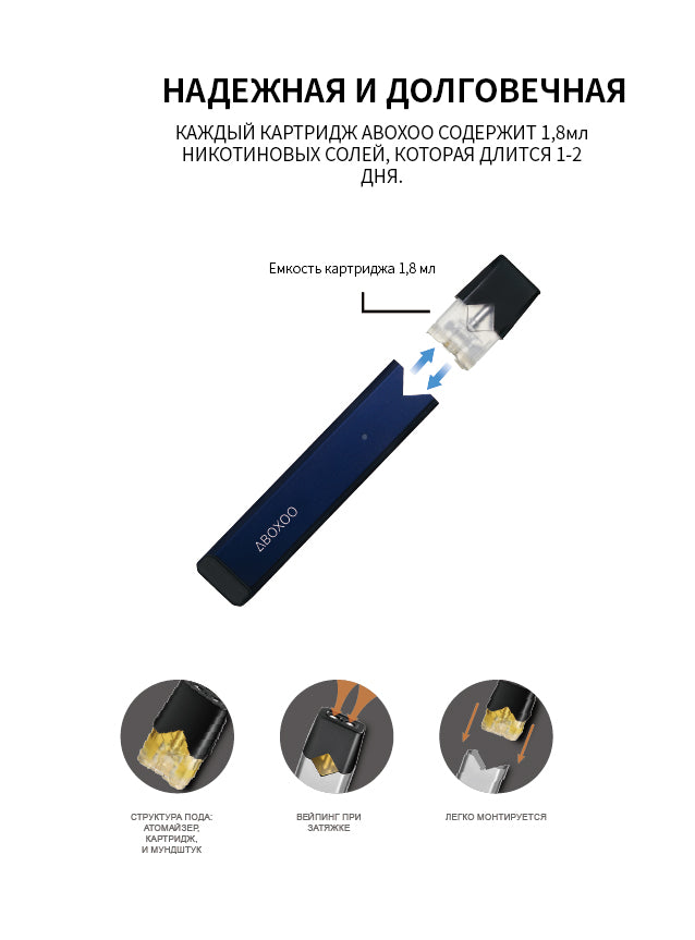 Aboxoo® e-cigarette Blue edition