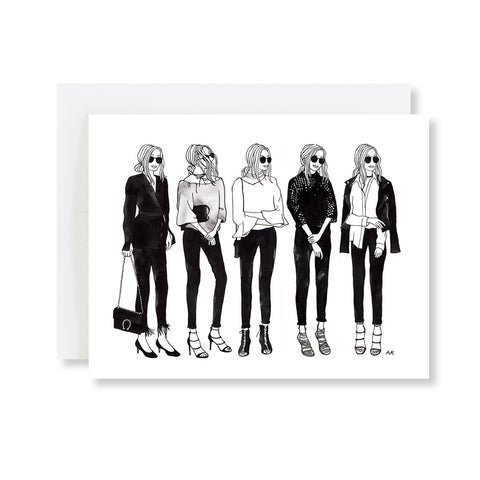 fashion illustration minimalist card