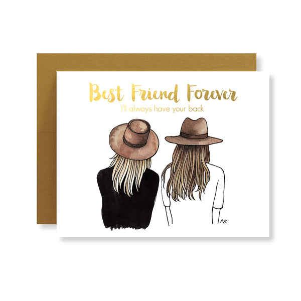 Best Friend Forever Card w. Gold Foil <Brown/Brown>