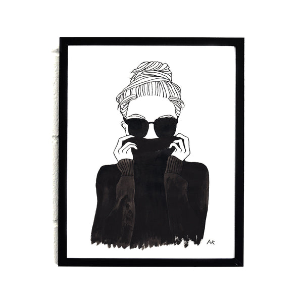 fashion illustration wall print