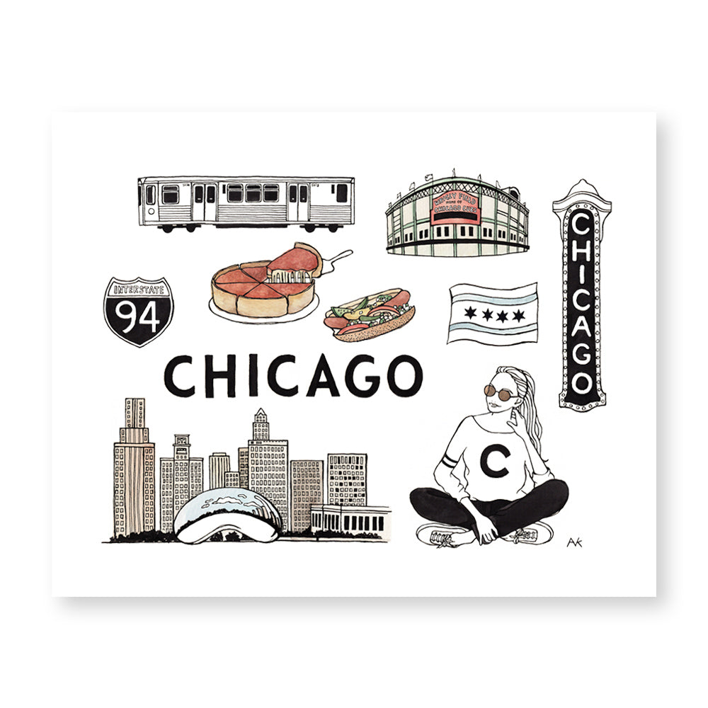 chicago illustration art print